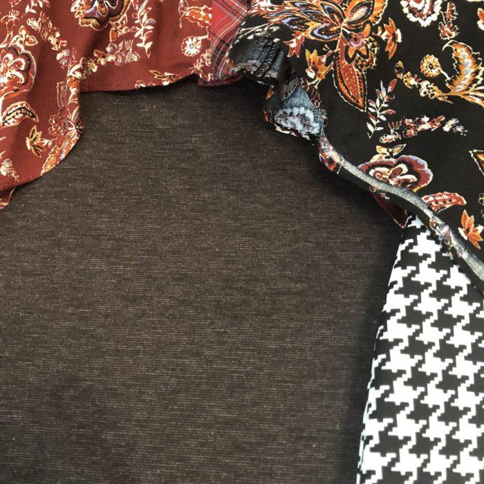 Brown modest pencil skirt