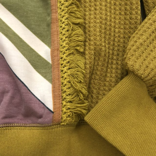 Mustard print sweater