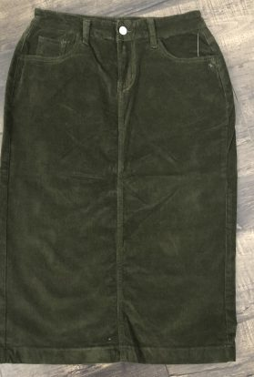 Olive green corduroy skirt
