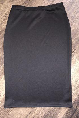 solid black pencil skirt