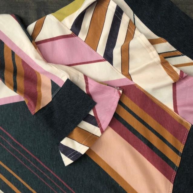 ruffle sharkbite top stripe