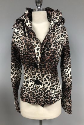 Cheeta wired collar jacket