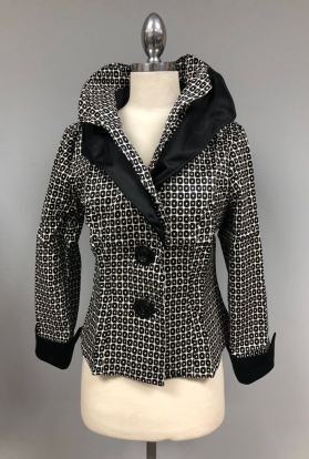 Black white Wired collar jacket