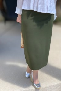 Olive Green modest pencil skirt