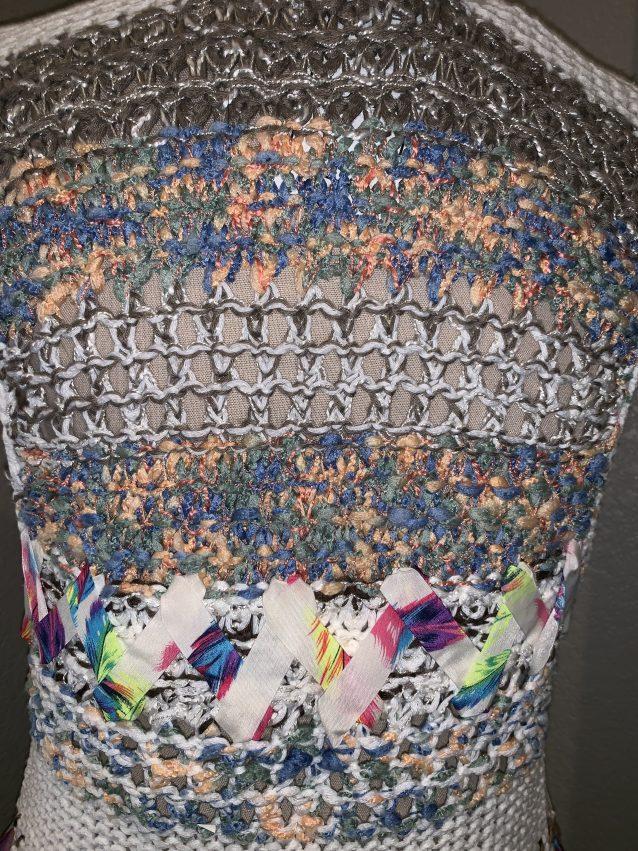 Fringe ribbon vest multi
