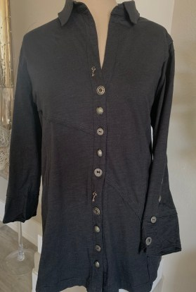 Black button down tunic