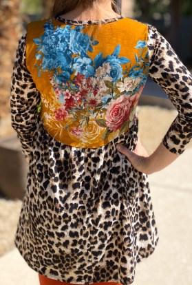 Floral Patchwork Leopard Hi Low Tunic