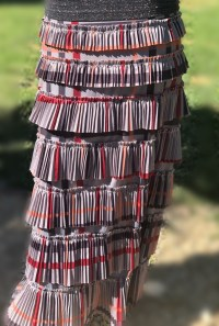 Pleated Eleganza Skirt ~ Gray Plaid