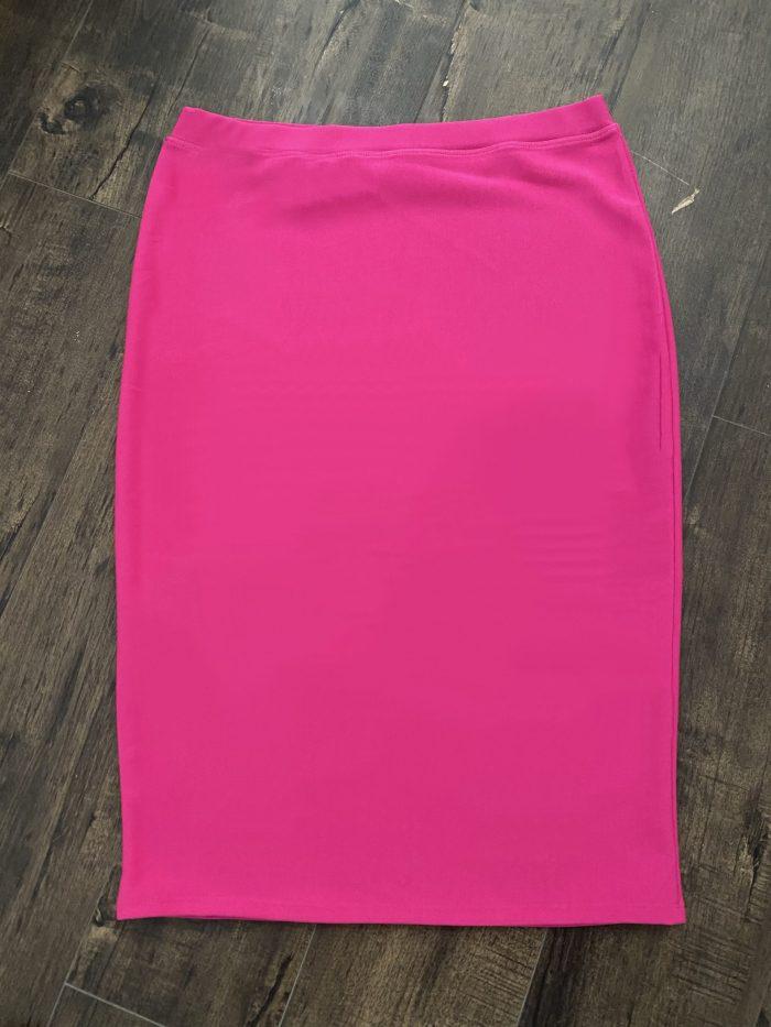 Pink Modest Pencil Skirt