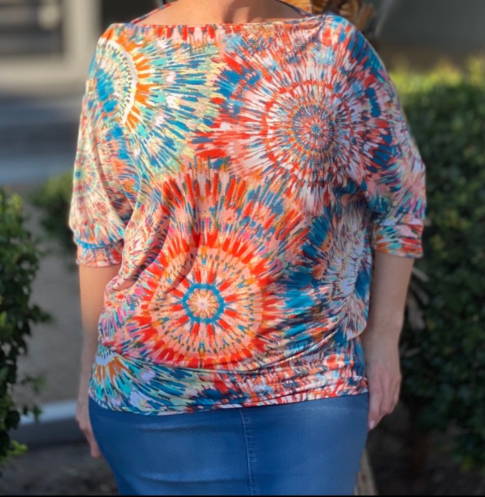 Tie Dye Off Shoulder Dolman Top