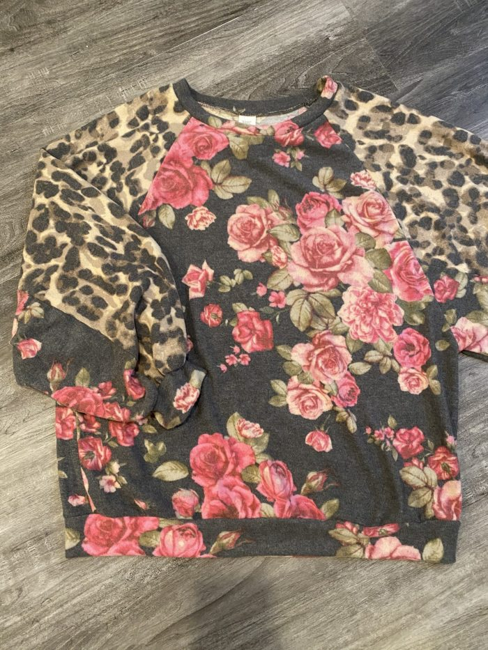 Floral Leopard Sweater