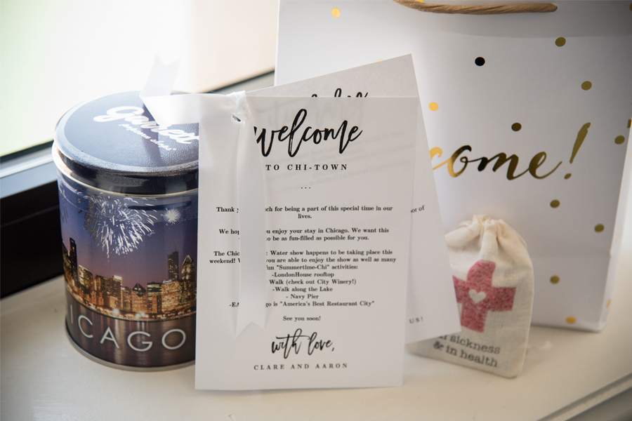 Welcome To Our Wedding Weekend Gift Bags: Chicago Wedding Welcome Bag Ideas