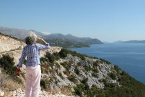 Mona looking toward Dubrovnik