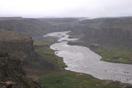 The Dettifoss Canyon is known as Iceland's Grand Canyon.