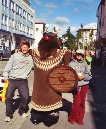 ...and a friendly wooden Viking guy that made friends with Alastair and Becks.