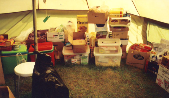 We, however, had our own kitchen- the food tent. We prepared all of our own meals, taking turns cooking and cleaning up.