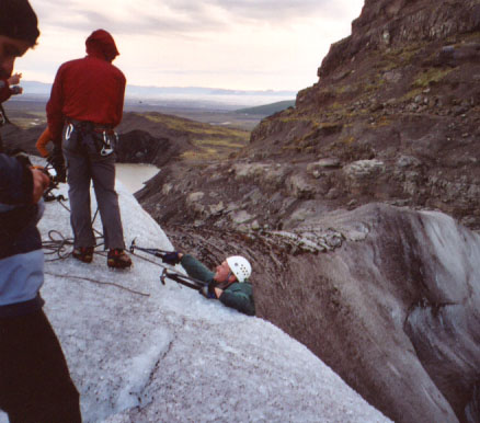 ...but it turns out making that last scramble up over the lip of the glacier was no cakewalk, either.