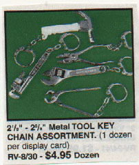 What exactly does a tiny pipe wrench keychain say about a person? And why would you need dozens of them?