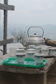 Tea made for us up on a hillside where we stopped for a break. The locals were all so friendly and kind.