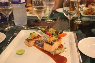 Fancy salmon at our goodbye dinner