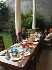 A lovely breakfast in the garden in Galle