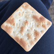 Super munchee! A bit like hard tack, but lighter.