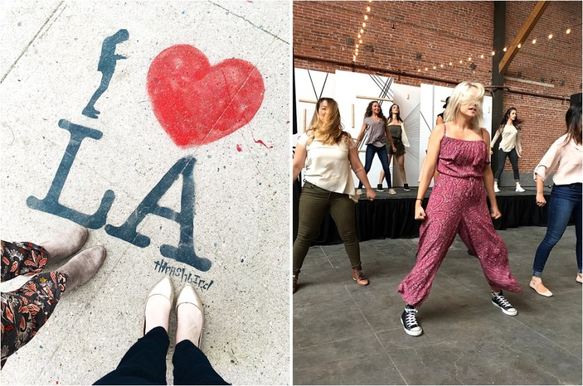 I heart LA, I love LA, LA street art, LA Arts District, Los Angeles Arts District, Most instagrammed street art in LA, Yellow Conference dancers, Yellow Conference, Yellow Conference 2017, female entrepreneur conference, where is the yellow conference