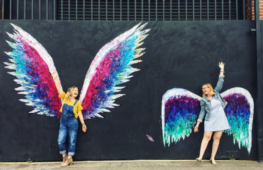 LA arts district, la arts district art murals, best art murals in LA, wings mural in LA, instagrammable murals in LA, yellow conference, yellow conference 2017, female entrepreneurs