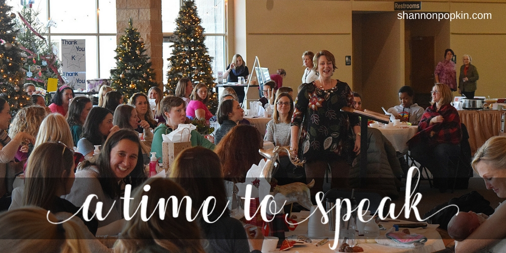 Why I Speak (Especially at Christmas)