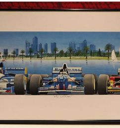 framed print who will it be 1996 melbourne grand prix [ 1600 x 1066 Pixel ]