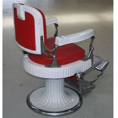 1800 Koken Barber Chair White Slip Covered Dining Room Chairs Sold Antique 546 With Porcelain Arms