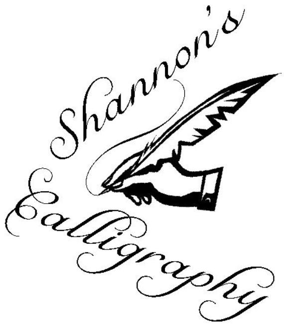 Shannon's Calligraphy ~ Shannons Calligraphy Home Page