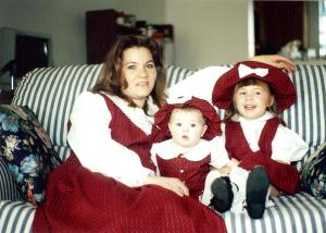mom and girls 1995
