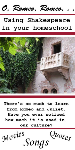 O, Romeo, Romeo. . . Do I really need you in my homeschool? Shakespeare can add depth to your homeschool.