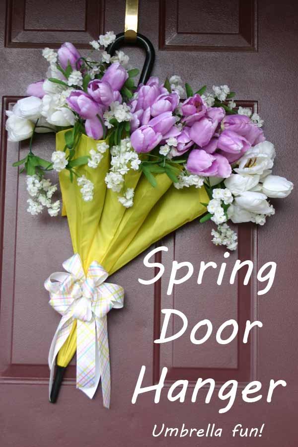 Spring Umbrella Door Hanger