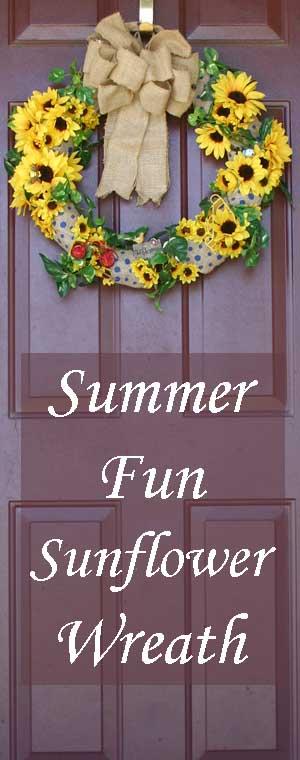 Summer Fun and Sunflower Wreath
