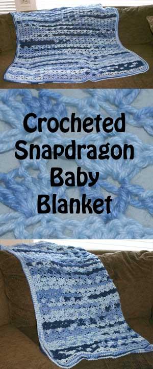 Crocheted Snapdragon Baby Blanket