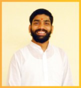 Acharya Hemraj Bhatt - completed his M.A. in Sanskrit literature from our school and is now teaching here after completing his BEd.