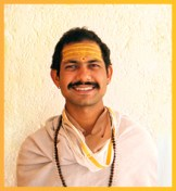 Acharya Naveen Upreti - also completed his M.A. in Sanskrit literature from our school and is now teaching here after completing his BEd.