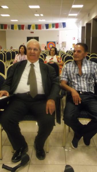Il rabbino Arie Ben Nun e Giovanni Luigi Manco