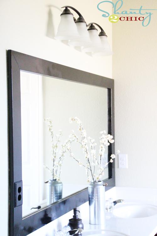 Cheap Bathroom Mirror Frame  Shanty 2 Chic