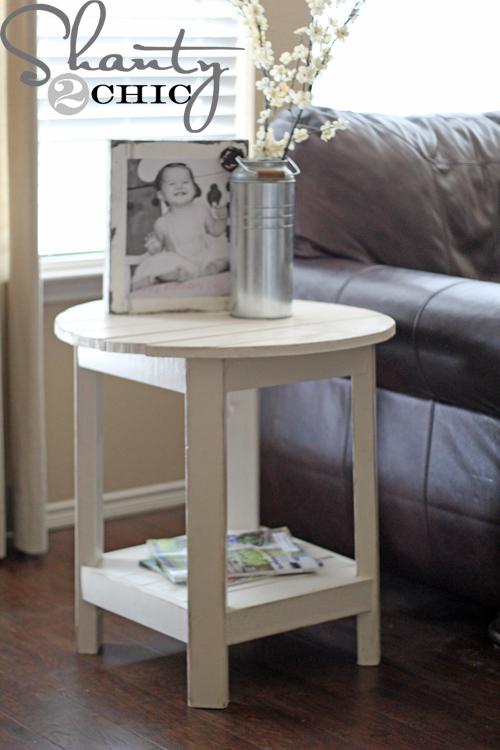 Diy Pottery Barn Inspired Benchright Side Table Shanty 2