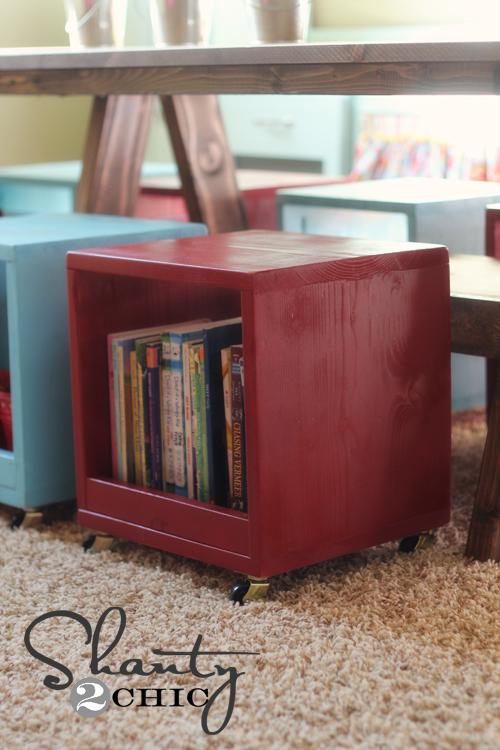 Rolling Storage Cube Stools Shanty 2 Chic