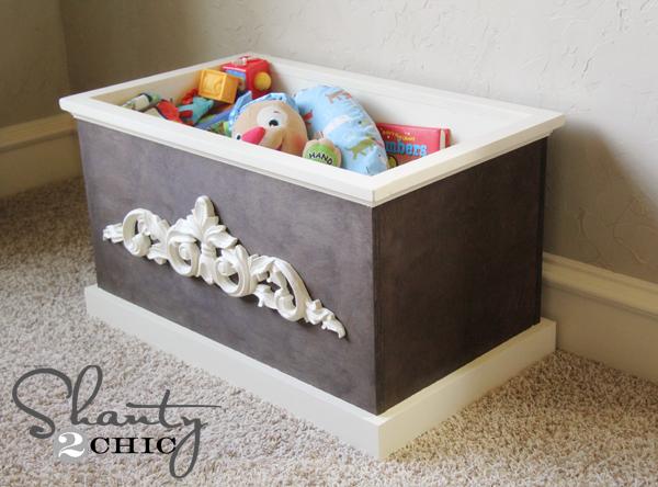 DIY Wood Toy Box or Blanket Box