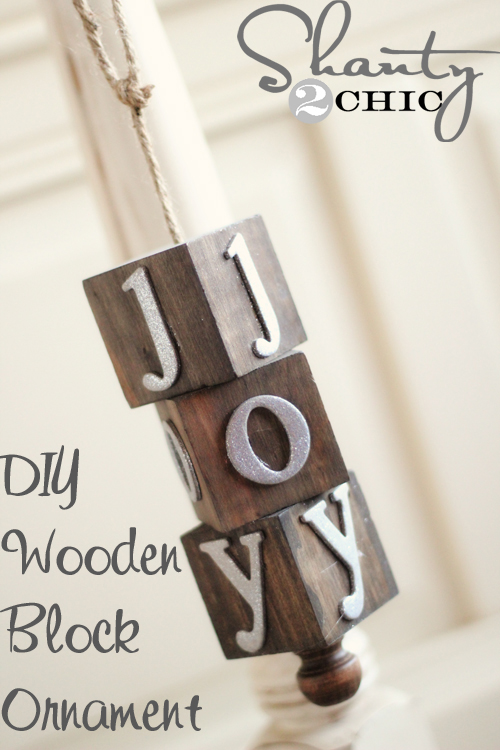 Wooden Christmas Ornament Shanty 2 Chic