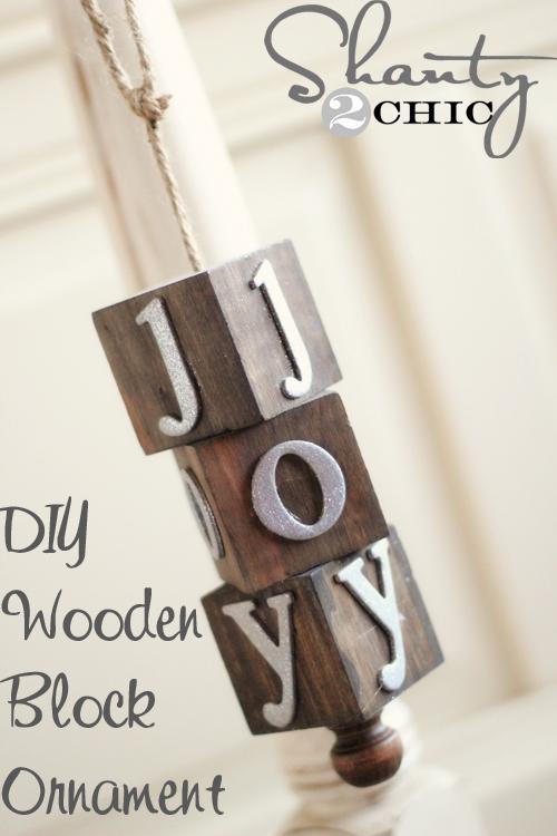DIY Wooden Block Ornament