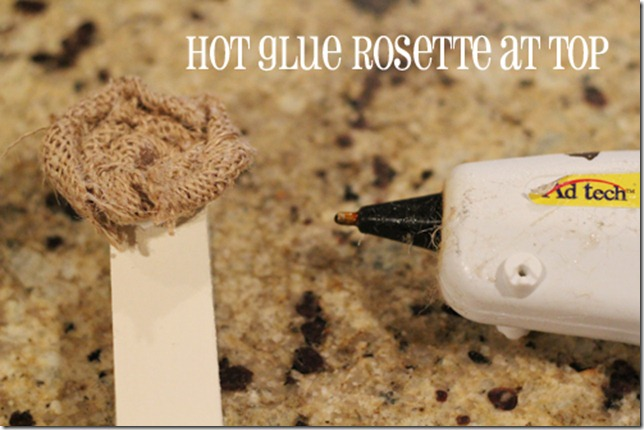 hot glue rosettes