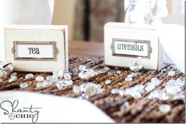 wooden place holders