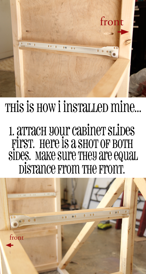 how to install drawer slides