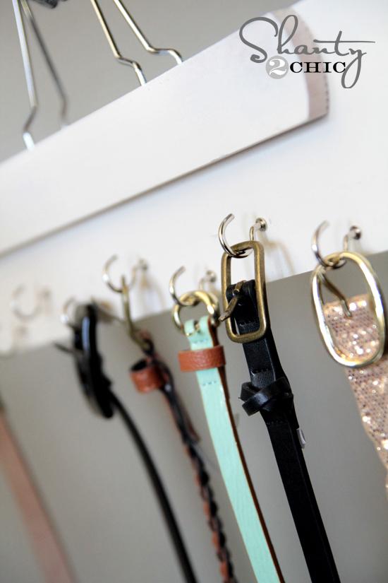 Belt Hanger DIY Shanty2Chic